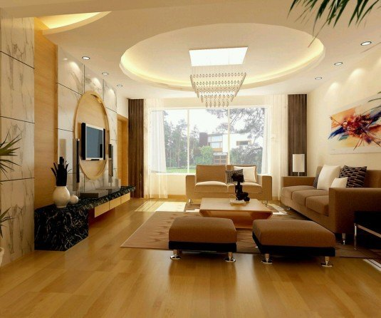 fall-ceiling-for-living-room-interior-with-wooden-flooring-and-flat-screen-TV-ideas