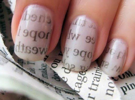 newspaper nail design