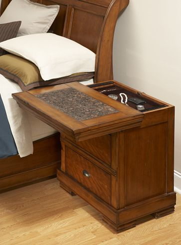 nightstand sliding top