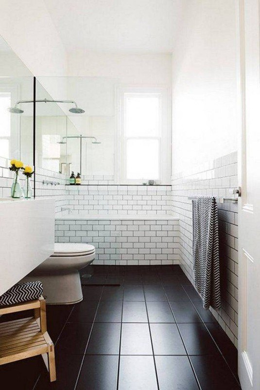 scandinavian-bathroom-designs-with-black-slate-floor-and-subway-tiles