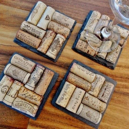 wine cork coaster