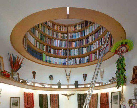 Book Shelf in Ceiling