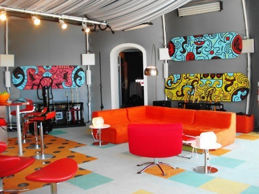 Fantastic-Color-Pallet-Designs-With-colorful-living-room-interior-and-orange-sofa-and-modern-stools-design-1120x840