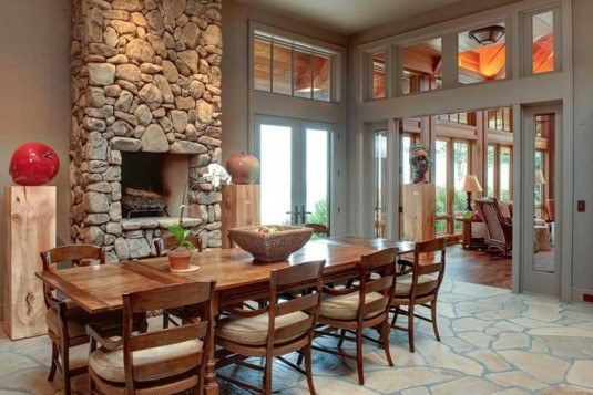 Long-Square-Srone-Fireplace-Design-Idea-for-Simple-and-Classic-Dining-Room