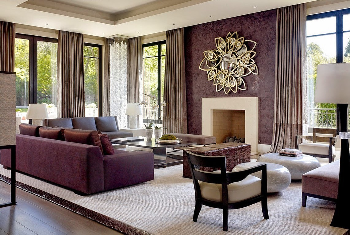 excellent purple living room | Royal Purple And Gold Interiors That Will Fascinate You