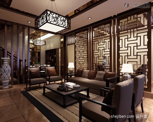 design-of-chinese-style-living-room-dividers