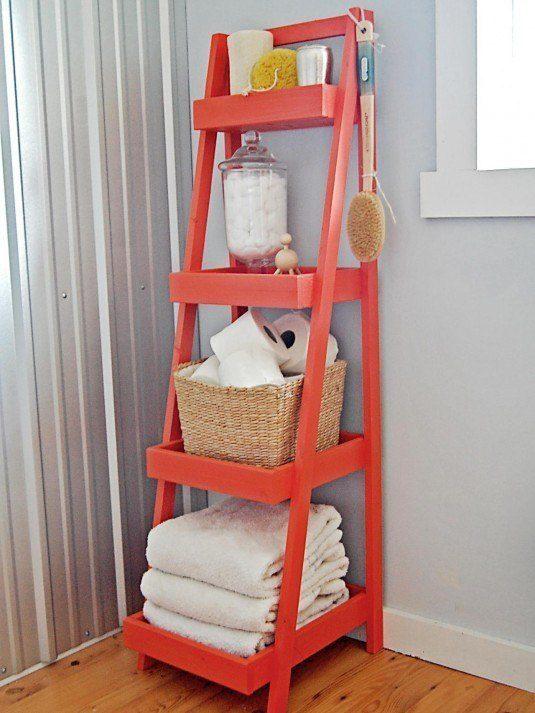 diy ladder storage