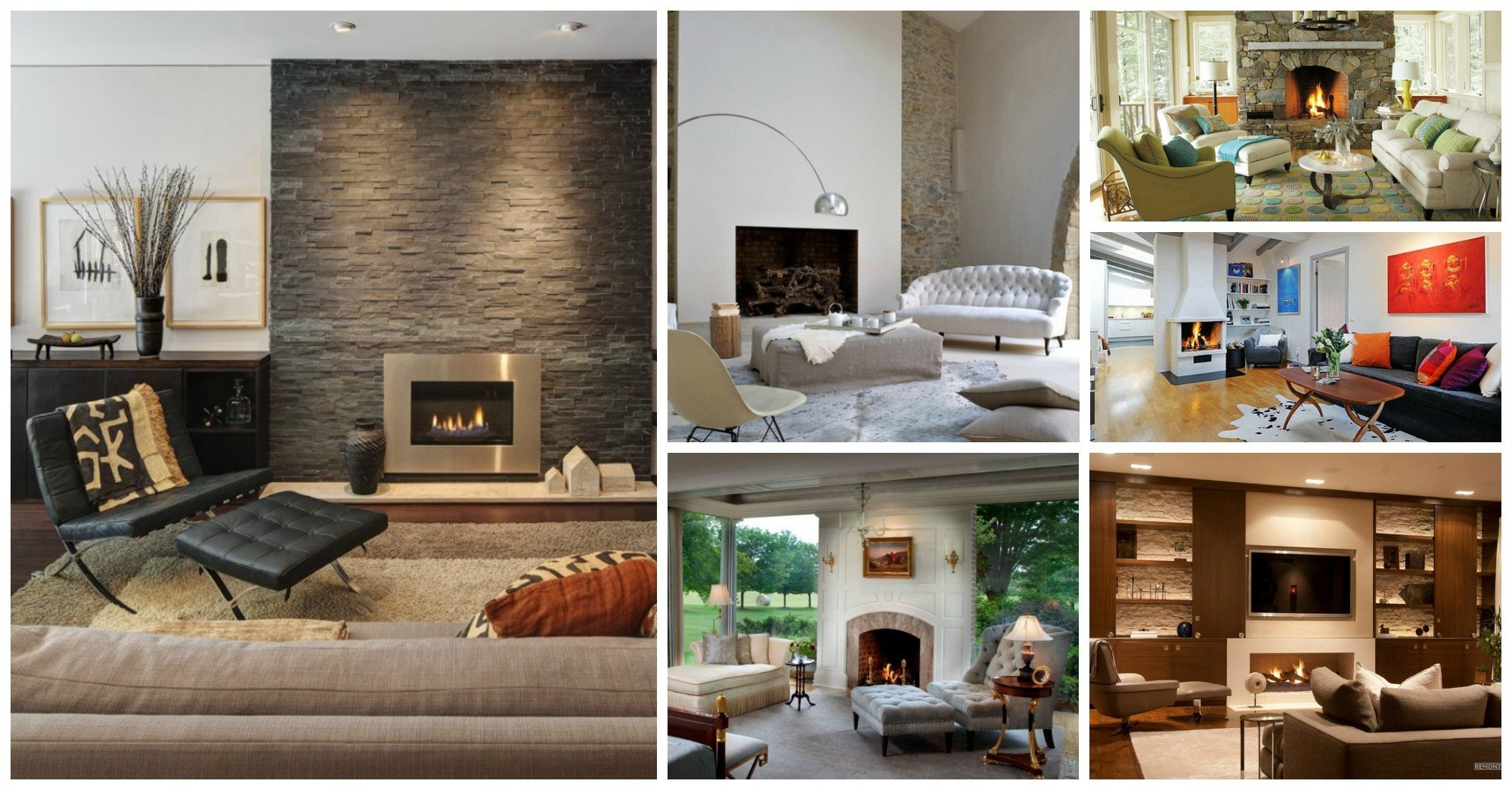 Image of: 10 Ideas Of How To Arrange The Furniture Around A Fireplace