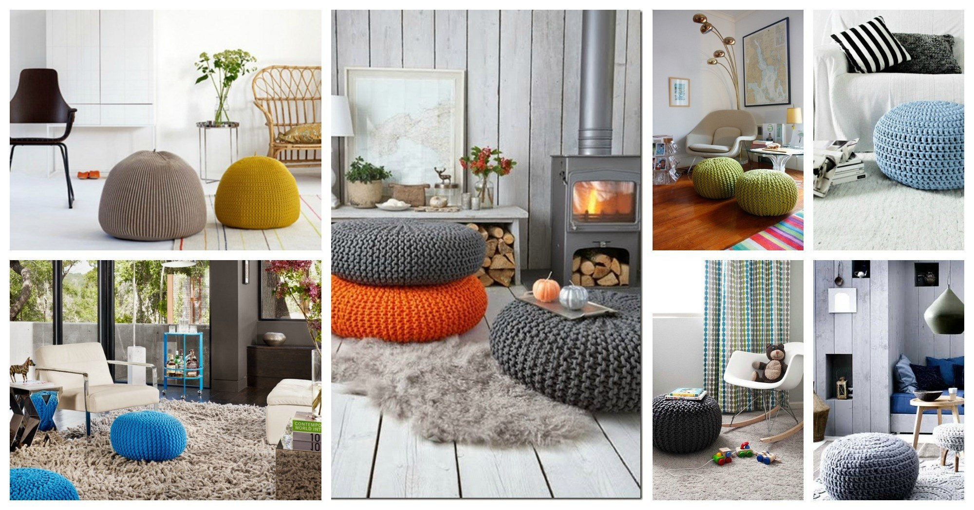 Cool Ways To Incorporate The Knitted Poufs In Your Home