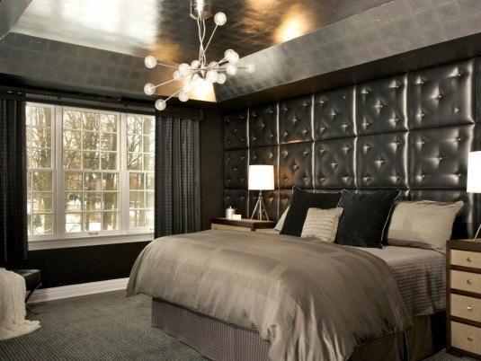 modern black bedroom