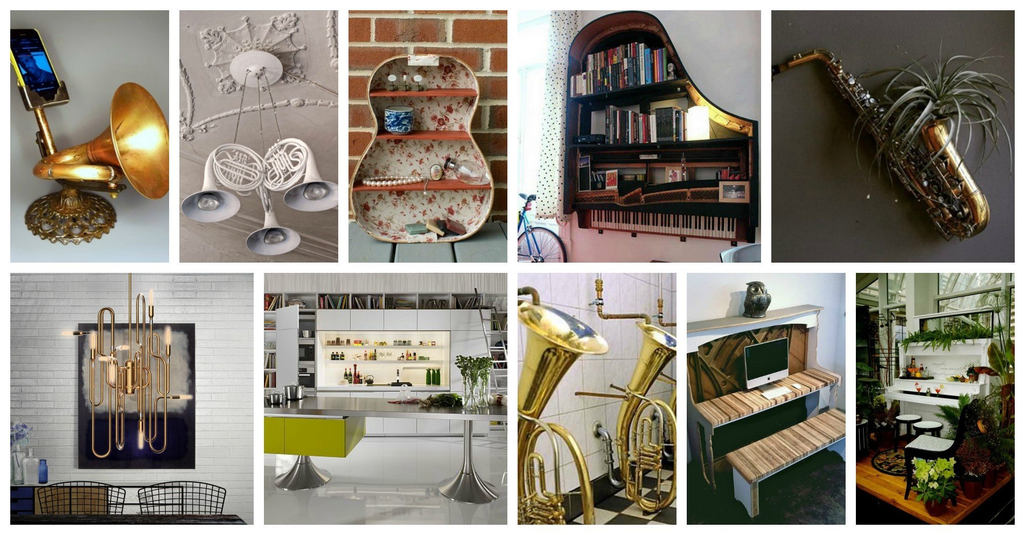 Wonderful Ways To Reuse Musical Instruments In Interior Design