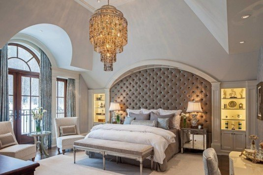 tufted bedroom