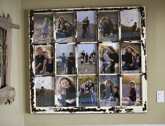 upcycle window collage frame