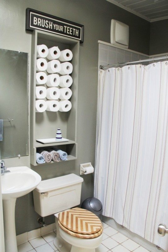 vintage toilet paper storage