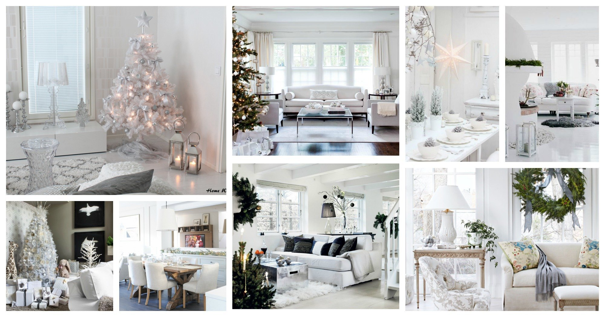 Pure White Interior Designs Decorated In The Christmas Spirit