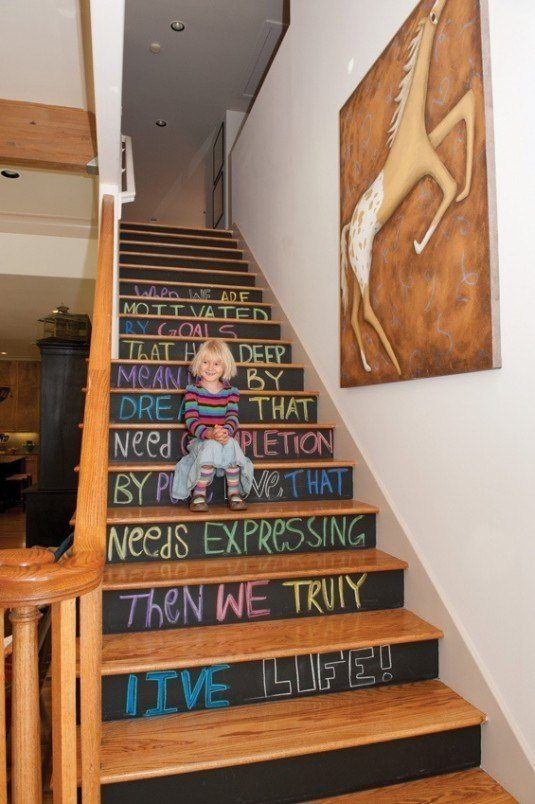 9-chalkboard-paint-idea-blackboard-stairs-stair-risers-staircase-hall