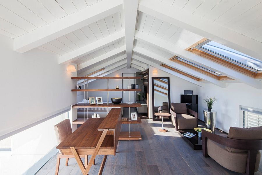 attic home office. beautiful attic minimalhomeofficewithneutralcolorscheme to attic home office