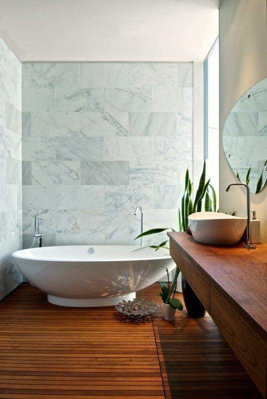 Superb-Teak-Warehouse-decorating-ideas-for-Bathroom-Contemporary-design-ideas-with-Superb-Carrara-marble-curbless