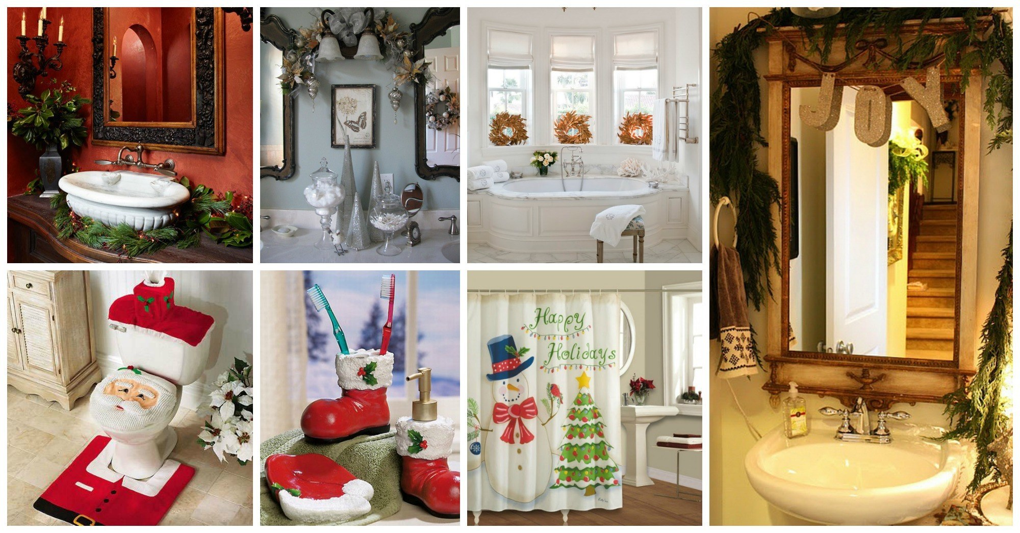 Cute Christmas Decorations for Your Bathroom