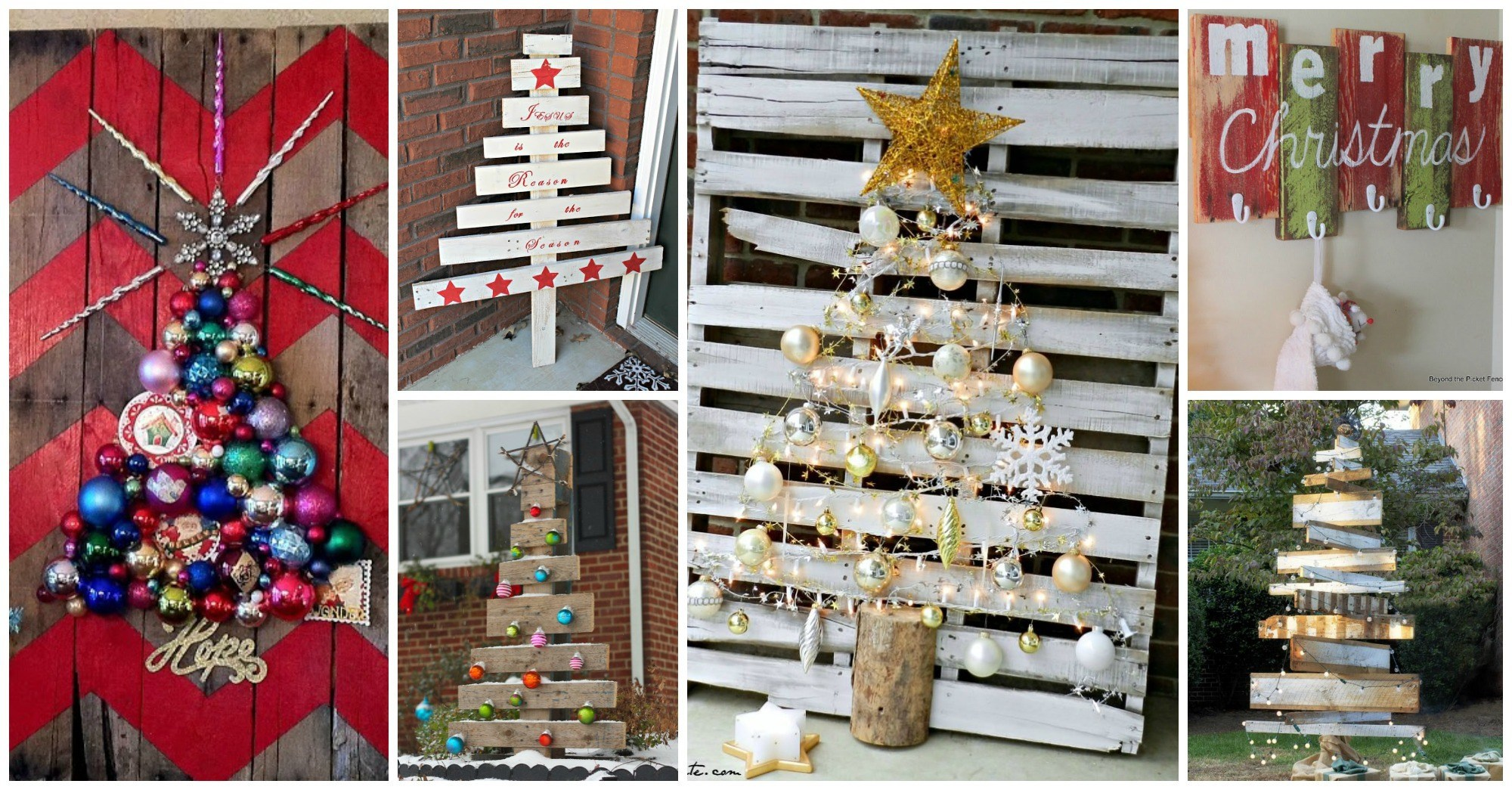 cheap and cheerful diy christmas decorations made of pallets