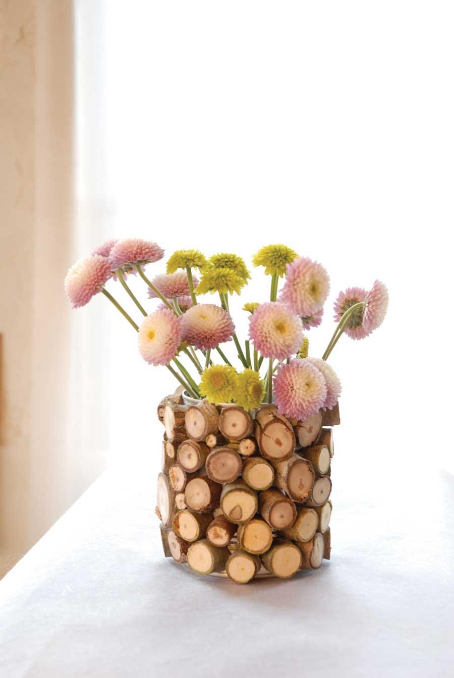 Как сделать вазу из природного материала