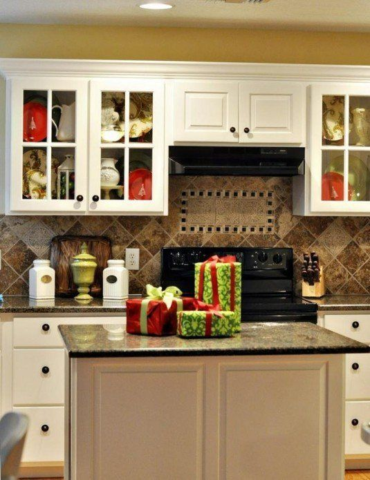 source pinterest. small holiday decorating. decorating kitchen ...