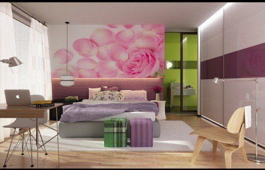 modern-girly-bedroom-with-sliding-panel-closets