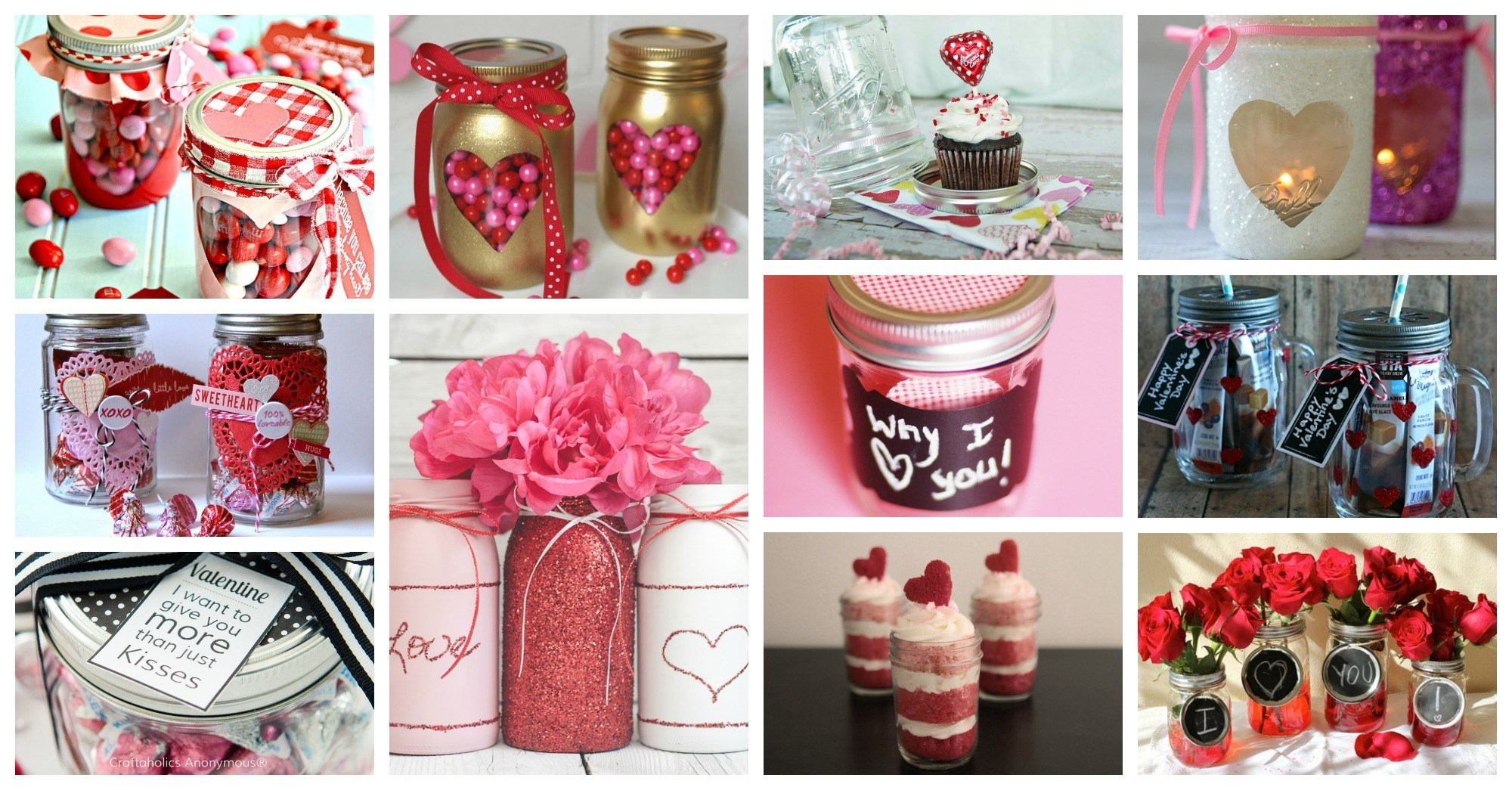 Cute Valentine's Day Mason Jars That Will Grab Your Attention