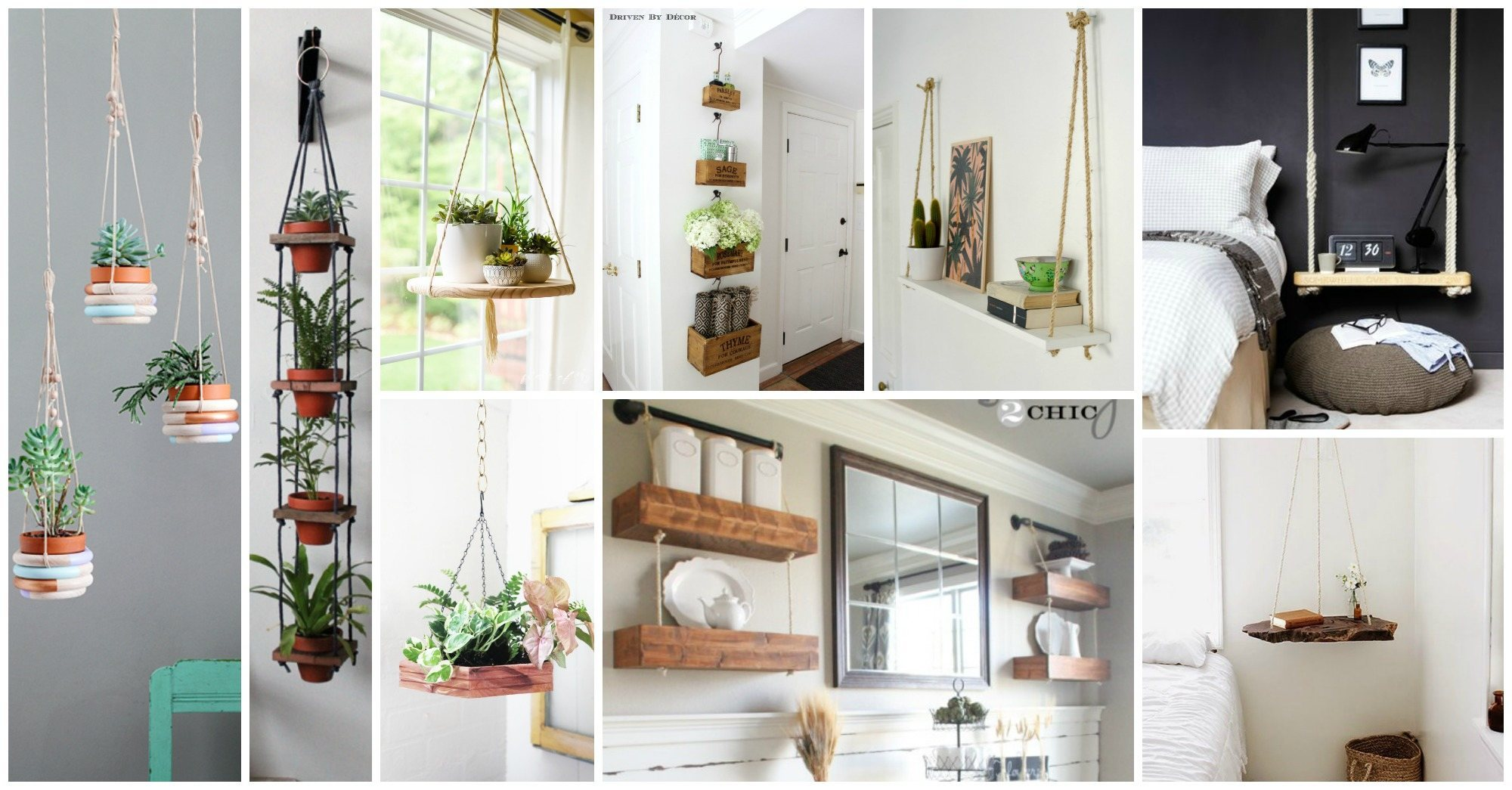 Impressive DIY Hanging Shelves and Hanging Planters That Will Impress You