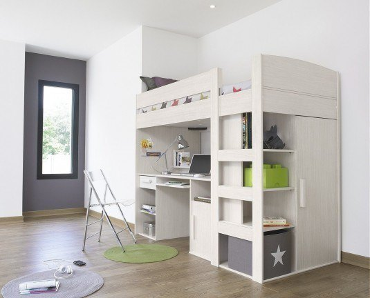 kids-loft-bed-with-desk-and-storage-uk
