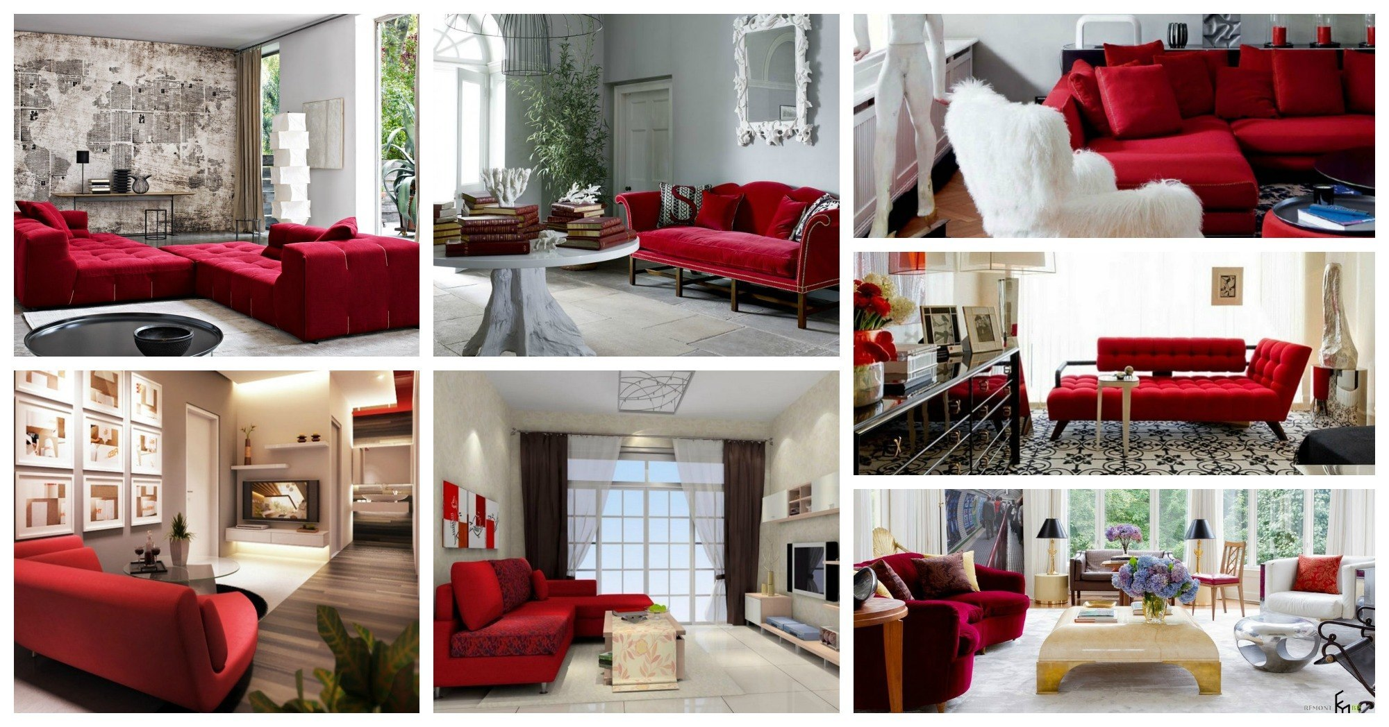living rooms with red sofas Archives