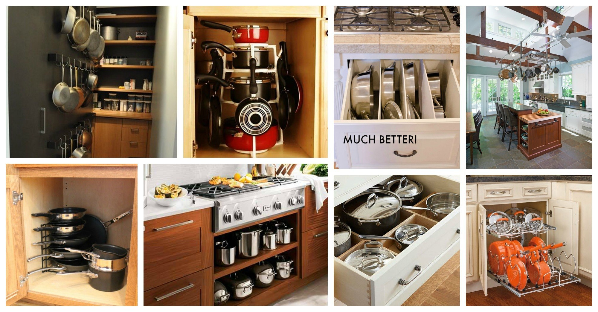 functional pots and pans storage ideas that will be of a great help
