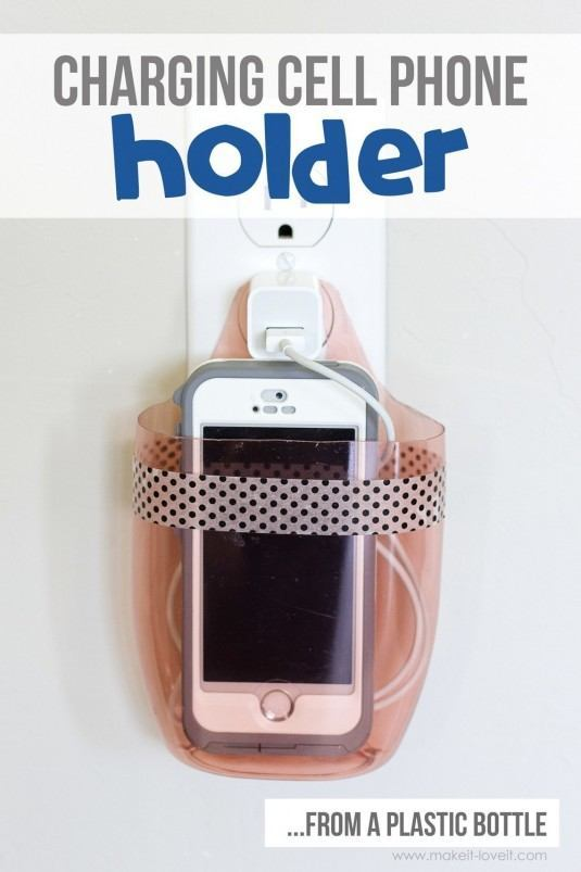 Charging-Cell-Phone-Holder-from-a-plastic-bottle-1