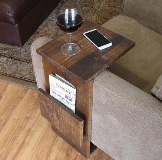 Table with Side Storage Slot
