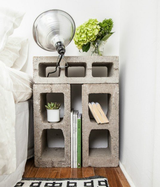 Upcycled-Cinder-Block-Bedside-Table-from-NY-Apartment