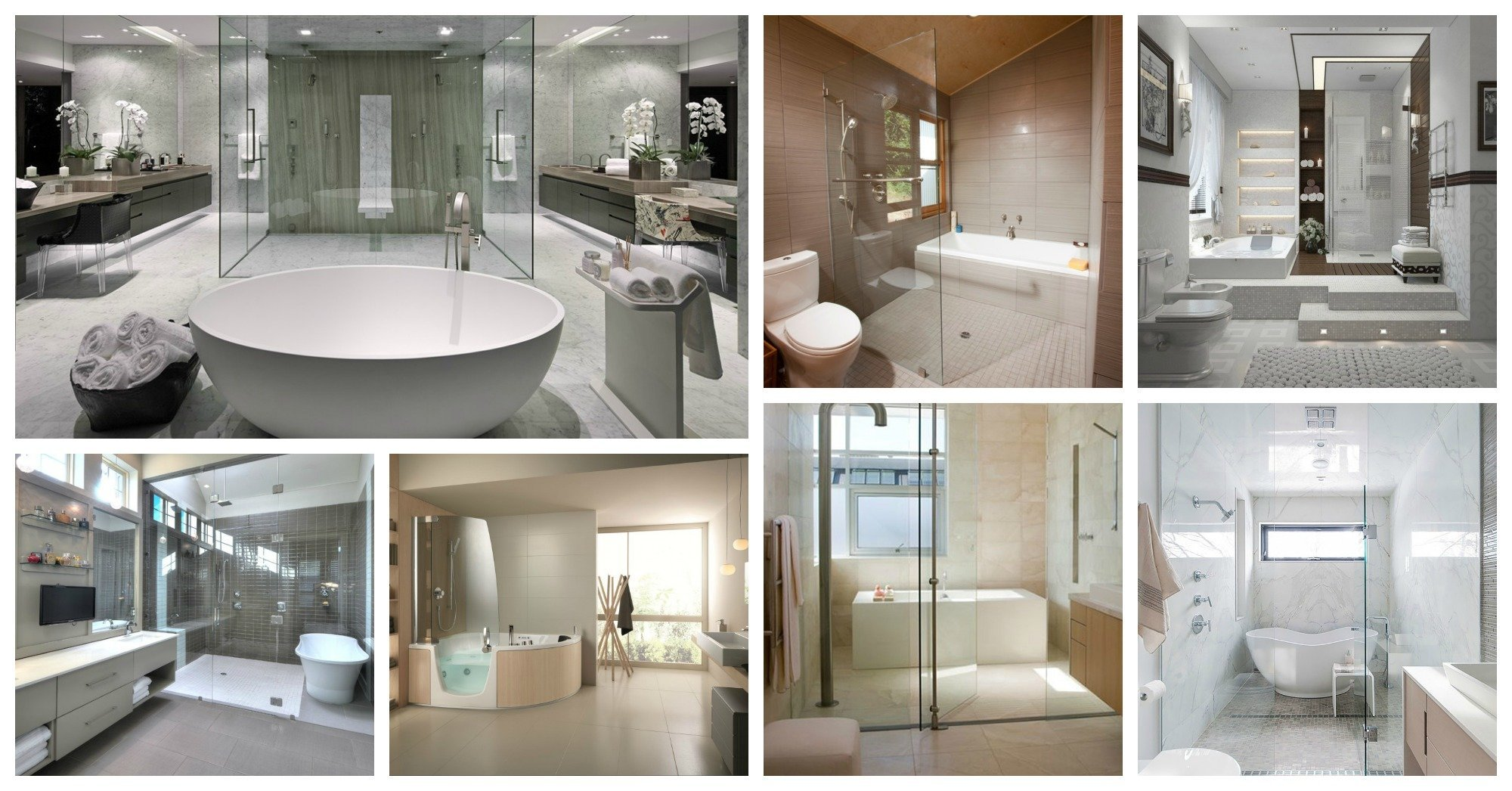 Shower And Bathtub Combination In Modern Bathrooms