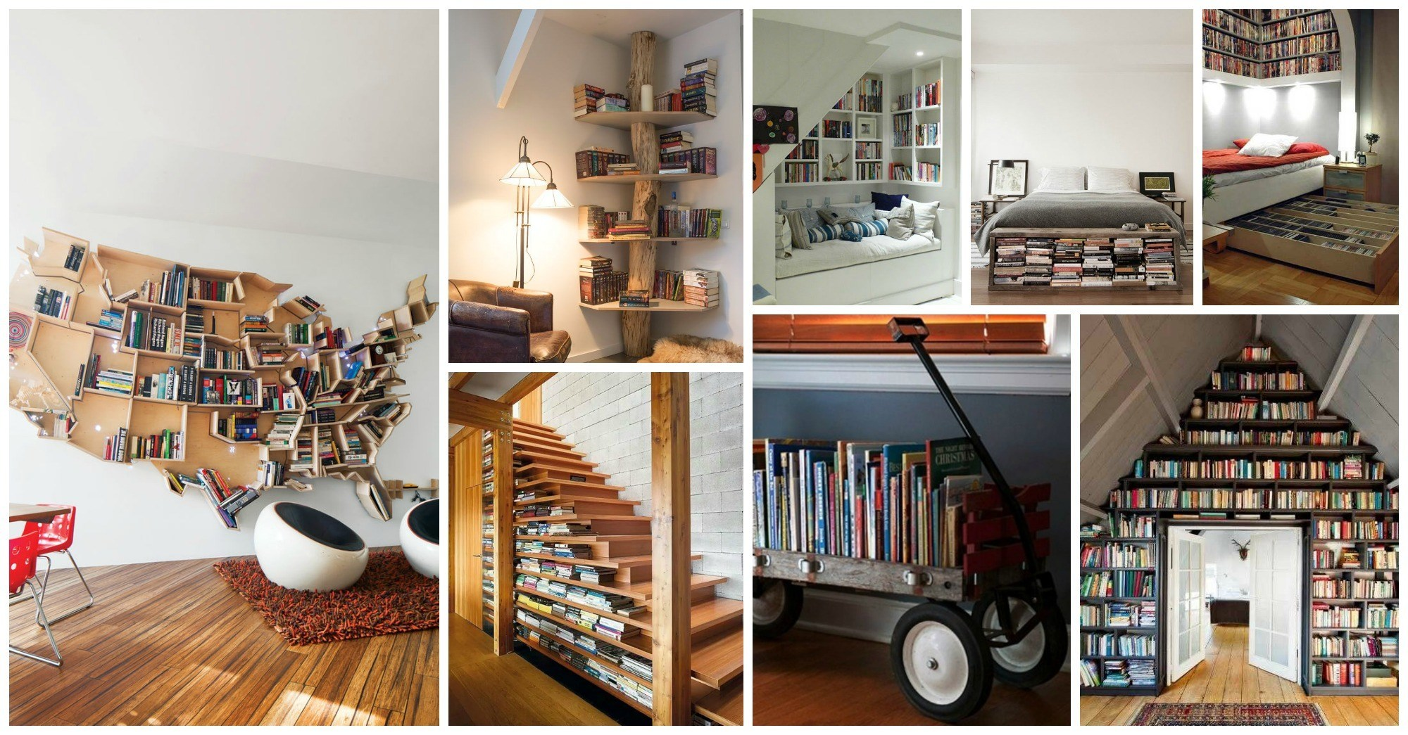 10 Unique Ways To Display Your Books