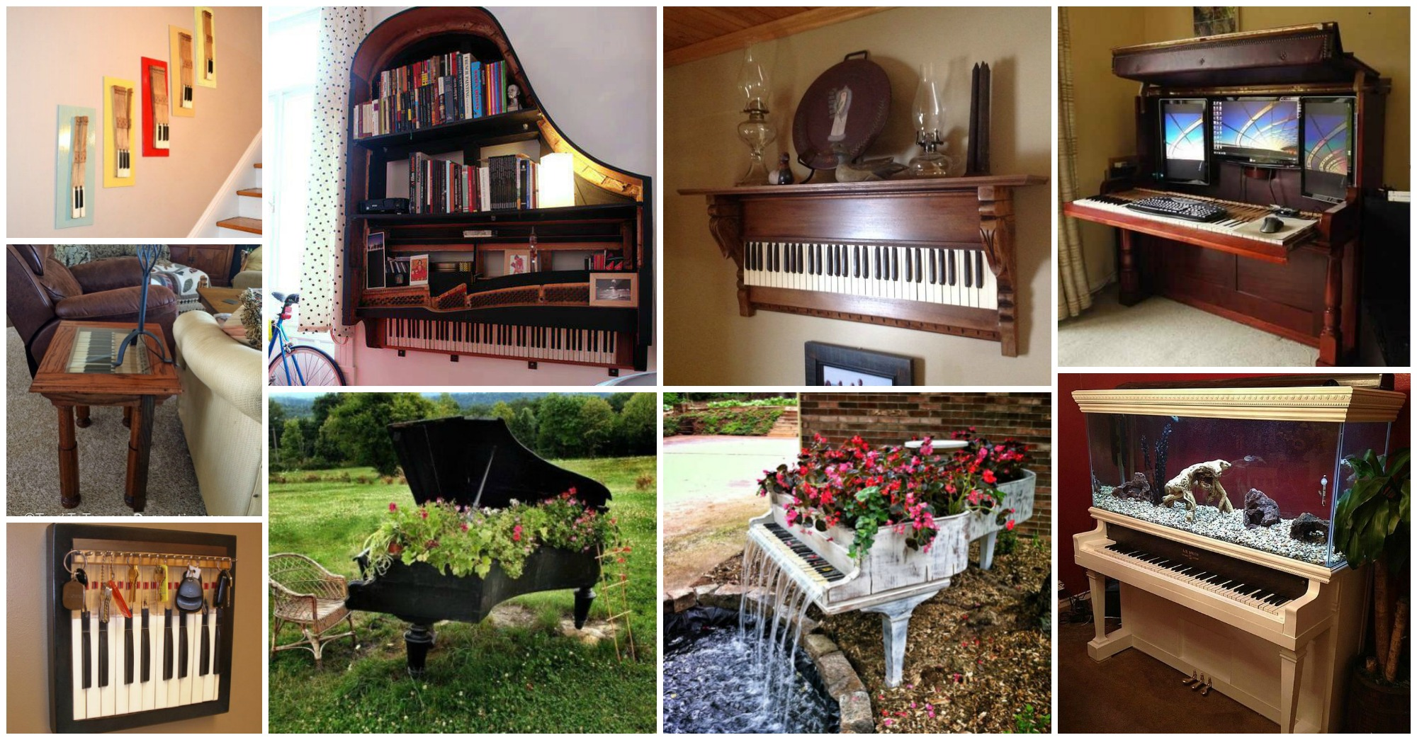 20 Inventive and Very Creative DIY Ideas to Repurpose Old Pianos