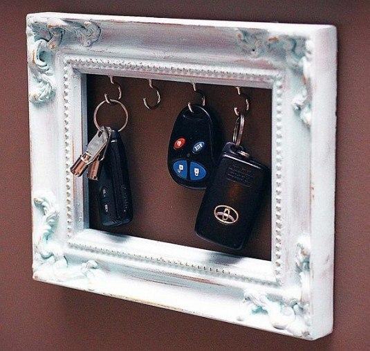 diy-picture-frame-key-holder