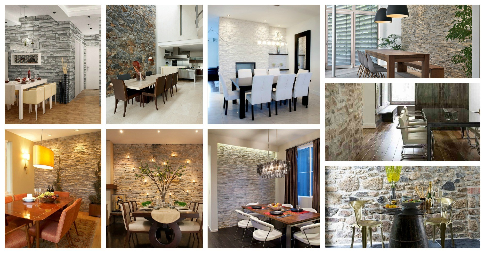 Delightful Stone Wall Dining Rooms That Will Amaze You
