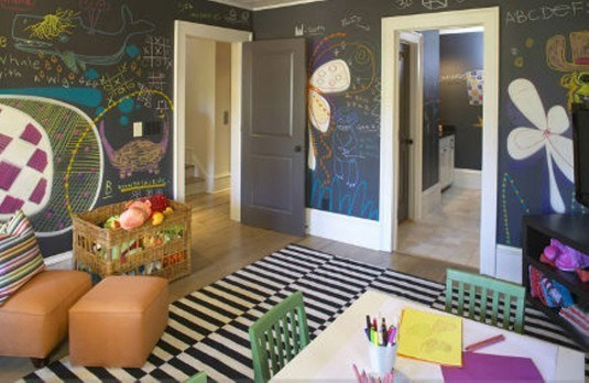 Amazing-Kids-Bedroom-with-Chalkboard-Wall