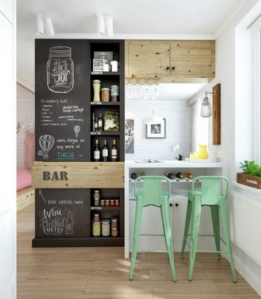 creative-kitchen-chalkboard-wall-ideas-small-kitchen-decorating-ideas