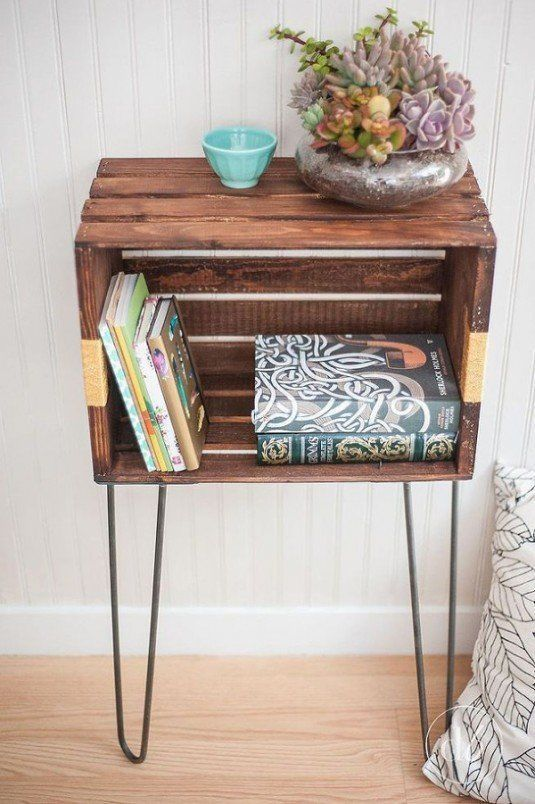 diy-wood-crate-console-table-and-shelf