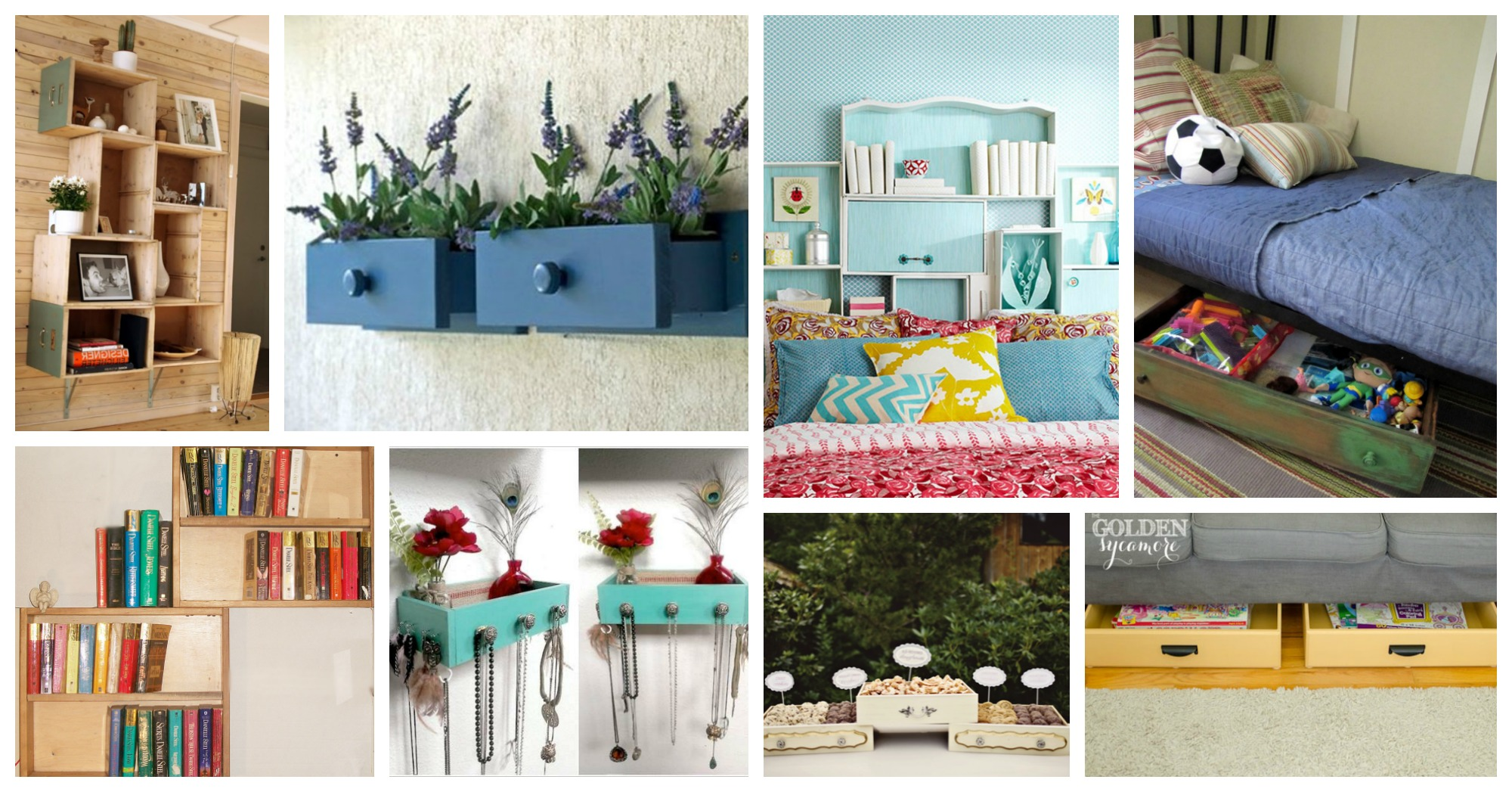 Functional Ways To Repurpose Old Drawers That Will Take You Aback