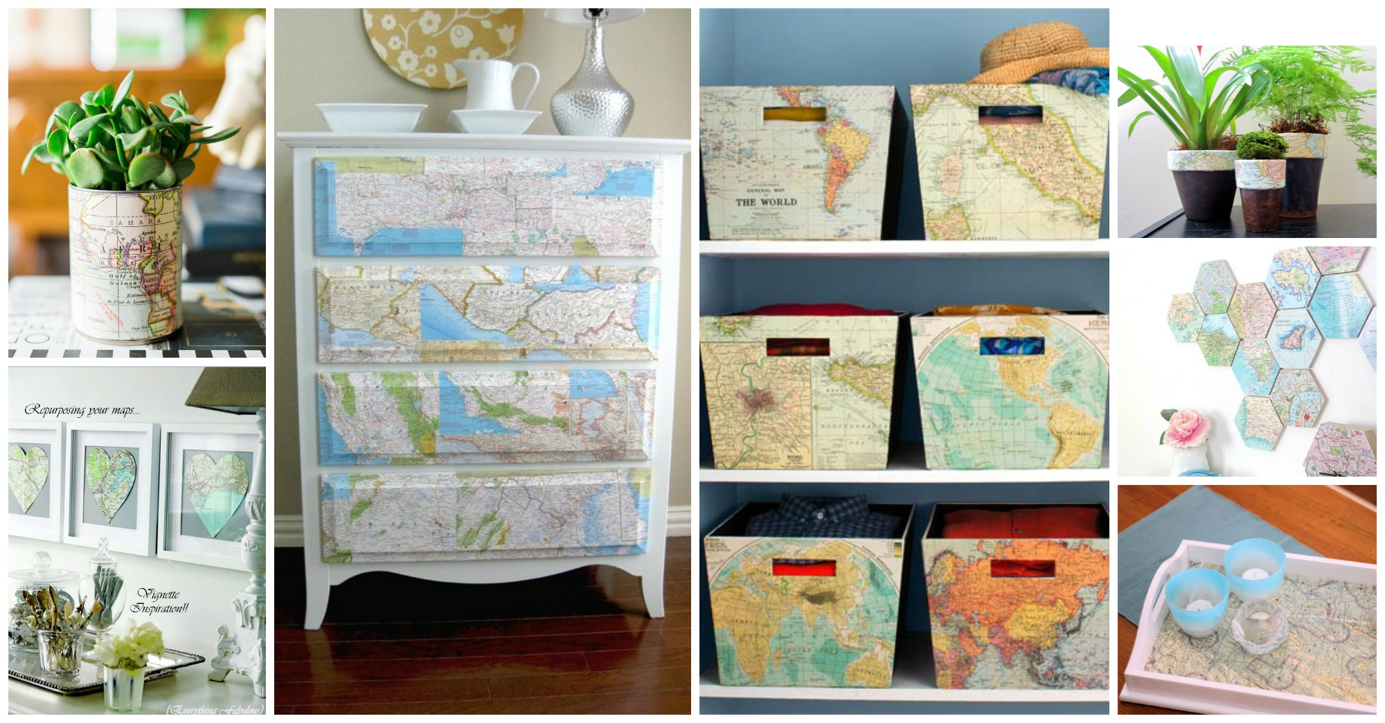 17 Amazing Ways to Craft with World Maps You Should Not Miss