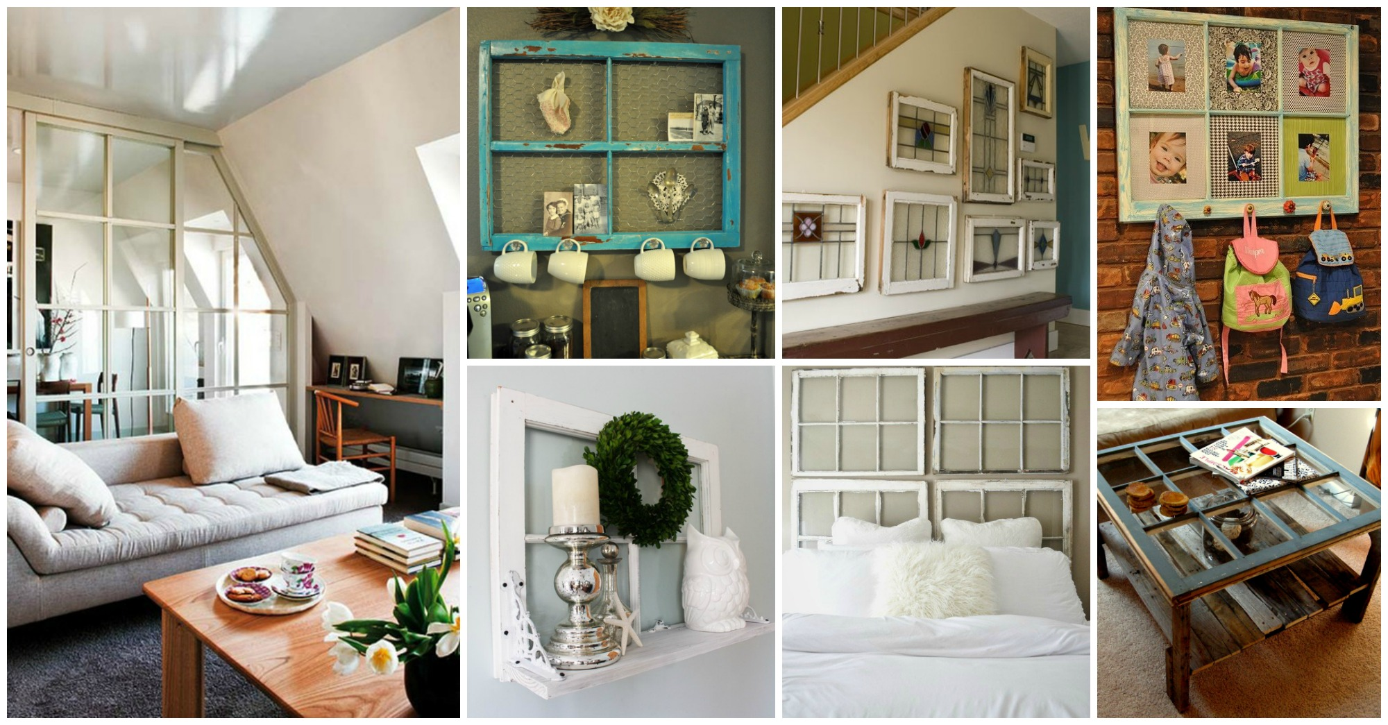 11 Inventive Ways to Incorporate the Old Windows in Your Interior