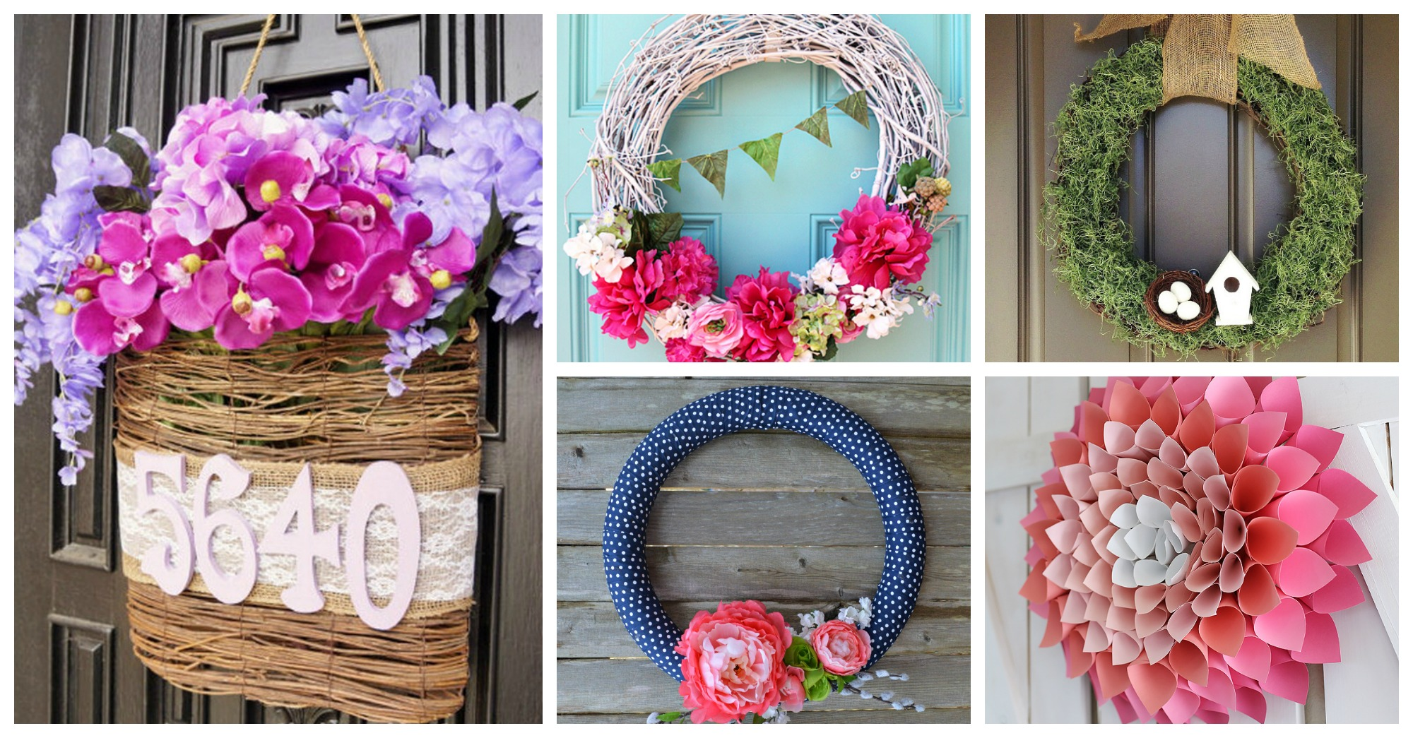 Playful Diy Spring Wreaths That Should Be Found On Your Front Doors