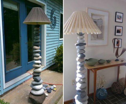Beautiful diy floor lamps that are easy to make diy floor lamp ideas mozeypictures Image collections