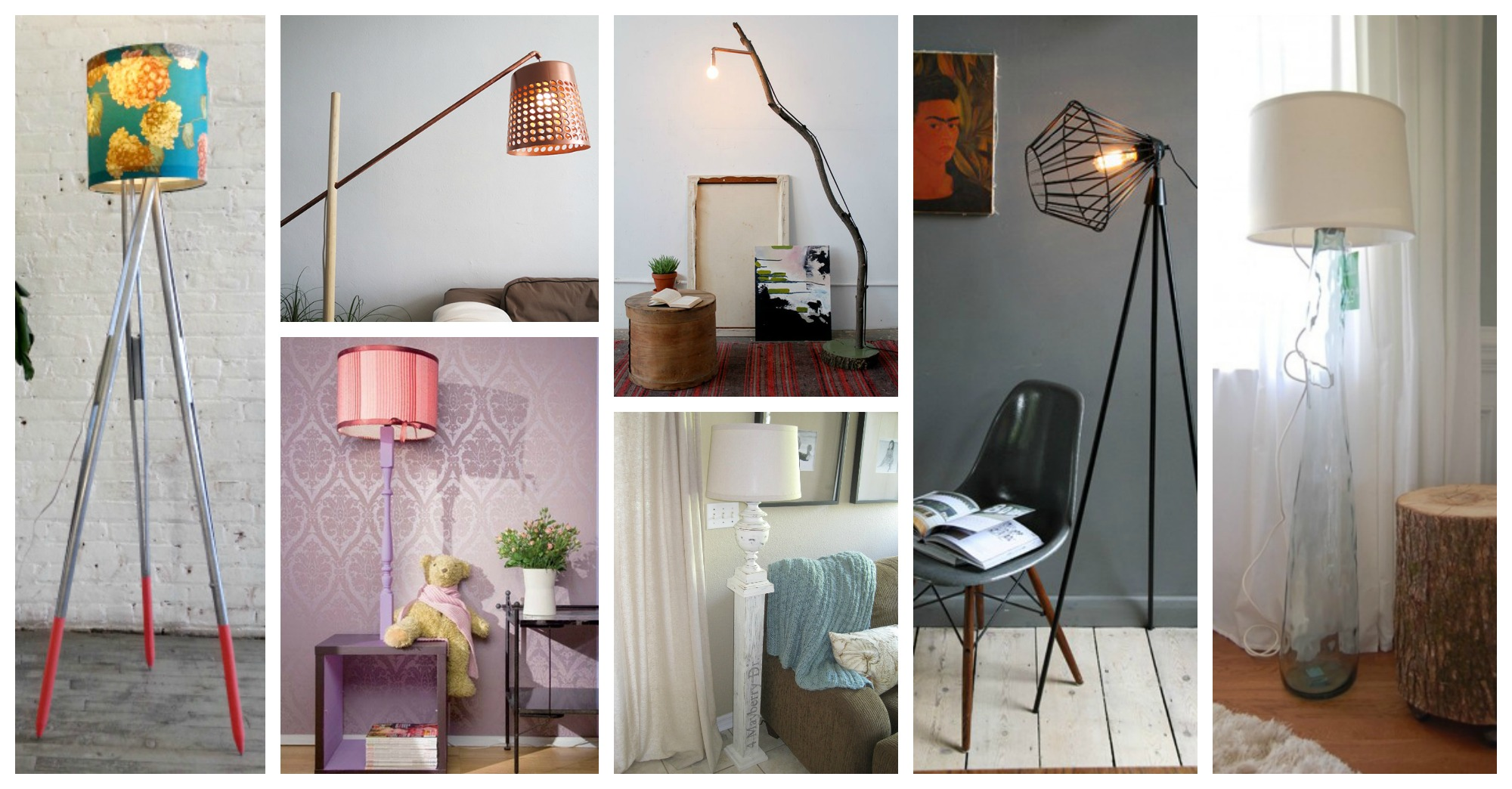 Beautiful diy floor lamps that are easy to make for Homemade floor lamp ideas