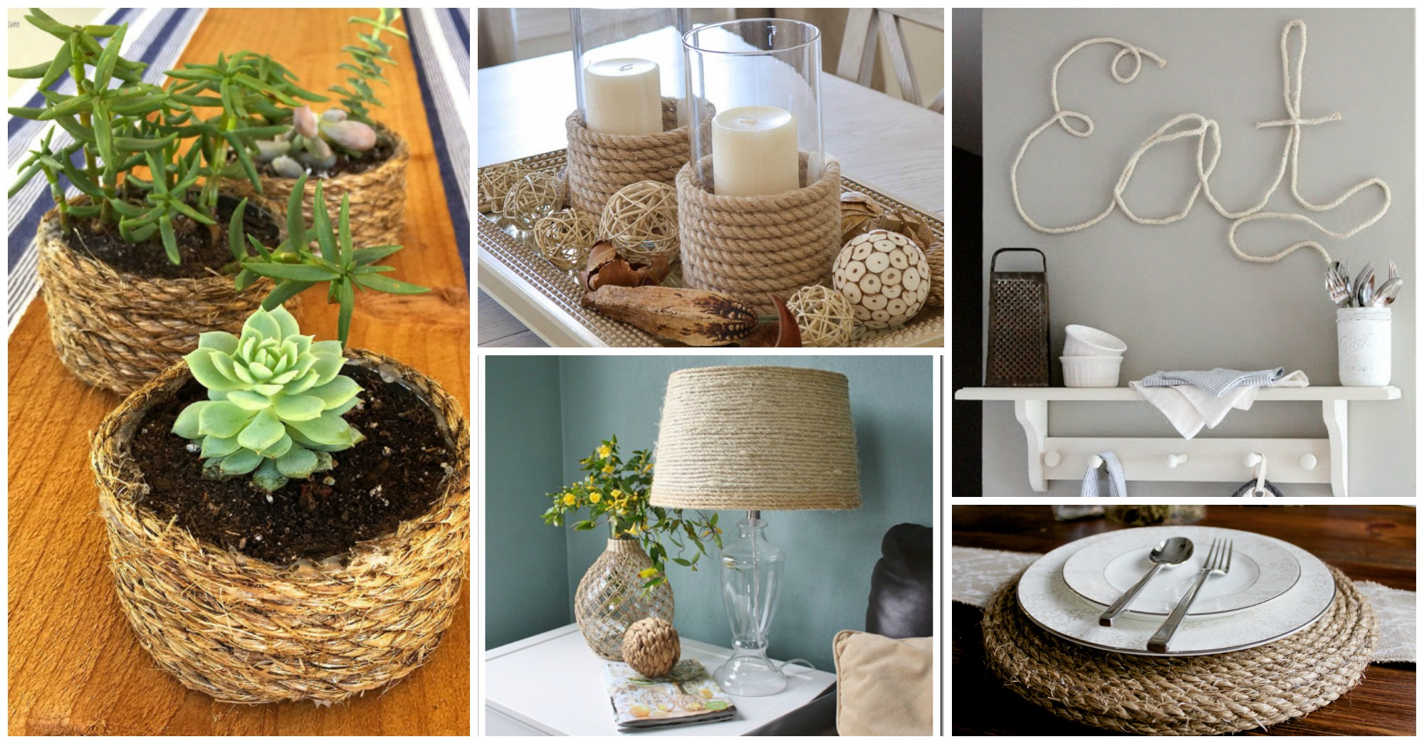 30 Amazing Diy Rope Projects To Beautify Your Home Page 5 Of 5 - Diy-hogar